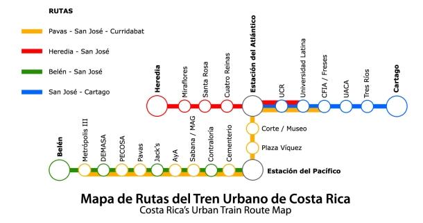 mapa rutas Tren-Urbano