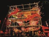 Espectáculo Dioses o Bestias del grupo español Xarxa Teatre, que será presentada en el Parque Cañas durante la inaguración del Festival Internacional de las Artes