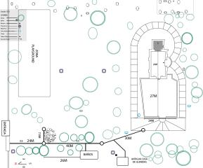 Plano detallado de las Ruinas deUjarrás