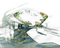 e1ae1c0d744cebecf75778631c4cb4c6--watercolor-architecture-croquis-architecture